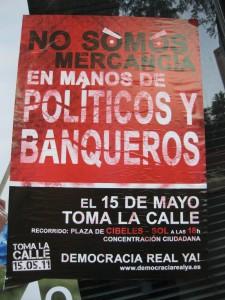 Mayo de 2011. Puerta del Sol