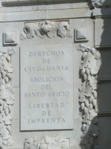 Abolición de la Inquisición (¡qué tiempos aquéllos!). Cádiz-
