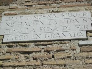 Terrible ser ciego en Granada. Patética la ceguera voluntaria. (La Alhambra).