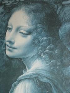 "¿Para qué Leonardo?-Leonardo da Vinci, fragmento de ""La Virgen de las rocas""."