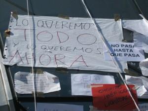 Gratuidad revolucionaria (Mayo de 2011. Acampada de indignados en Madrid.