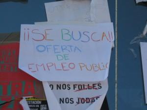 Al asalto del empleo público (Mayo de 2011.Acampada de Indignados en Madrid.