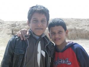 Niños del desierto. Egipto.