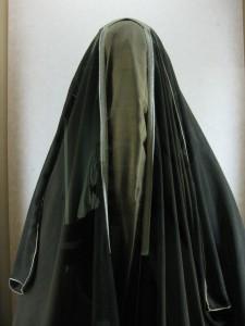 La máscara de tela.