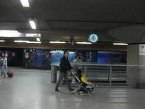 Se pasa sin verlo (Estación de Atocha. Madrid).