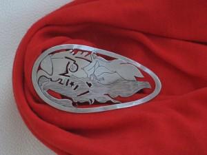 Valle-Inclán con bufanda roja.